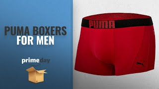 Save Big On Puma Boxers For Men | Prime Day 2018: PUMA Bodywear Men's Red Signature Logo Waistband