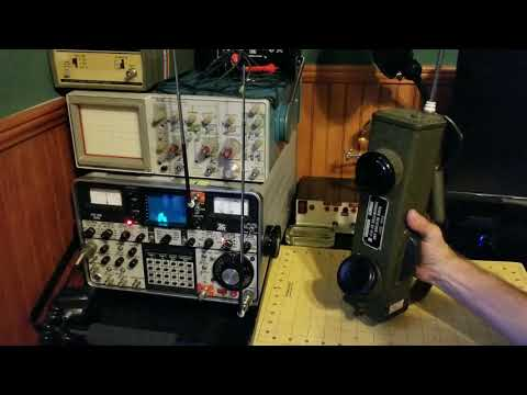 BC-611 Transmit/Receive Testing over the air with IFR Service Monitor WW2 Handie Talkie