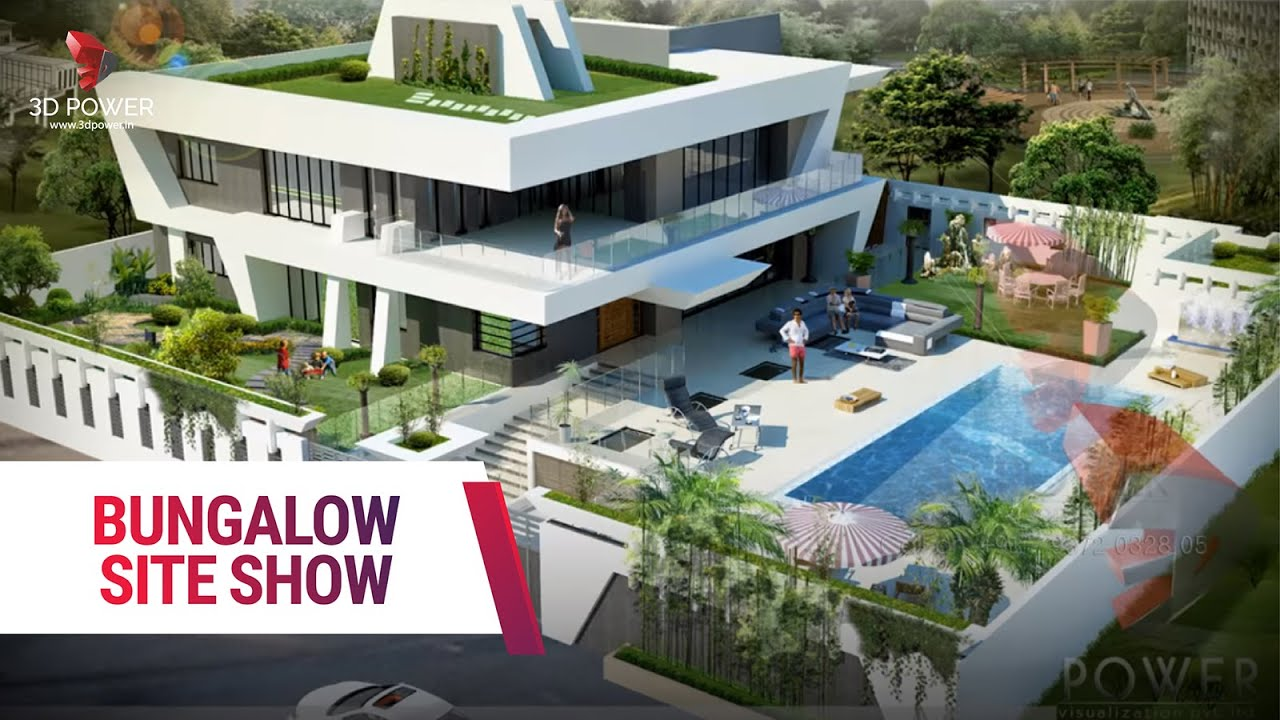 3D Power Bungalow Design Rendering - YouTube