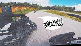 Yamaha MT09 (FZ09) vs MT10 + Sportbikes   Track Day Race Experience