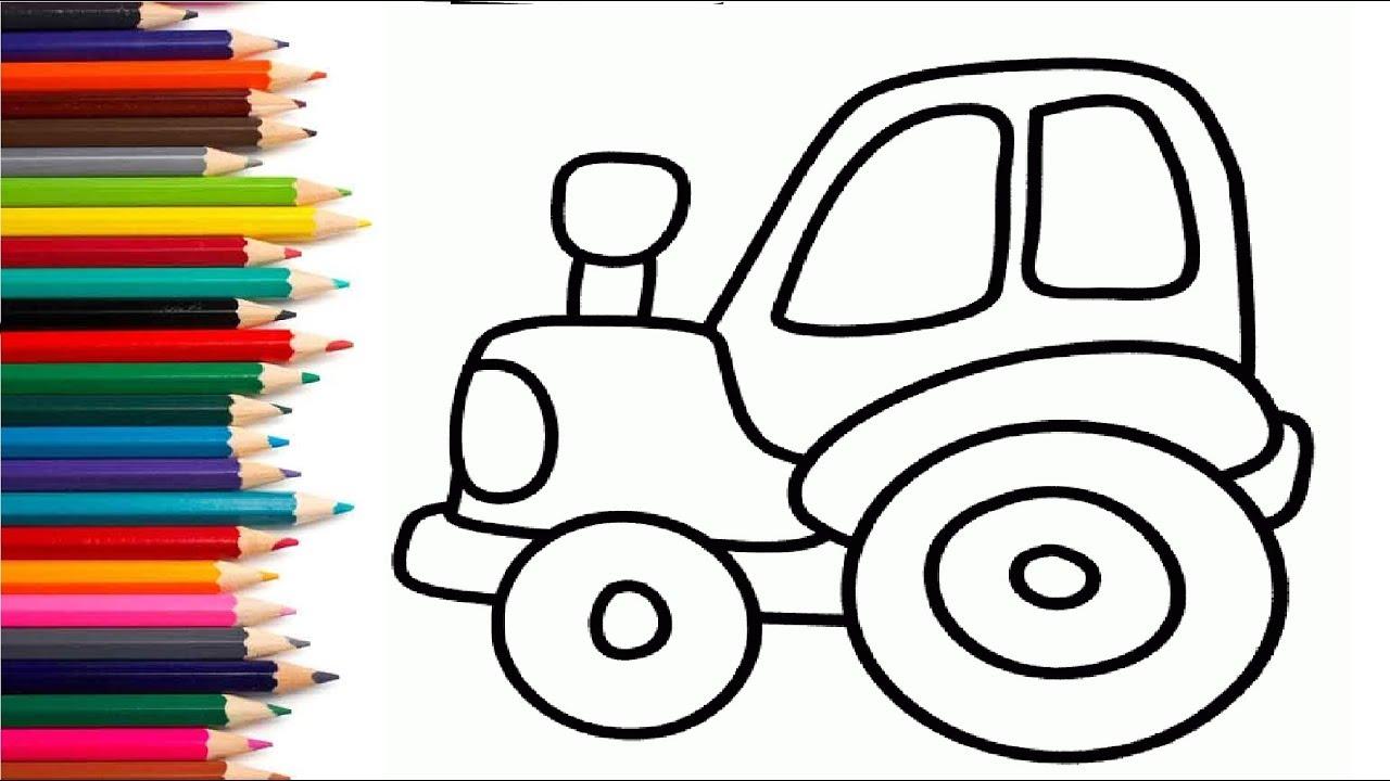 СИНИЙ ТРАКТОР - Раскраска - Развивающий мультик для детей ...