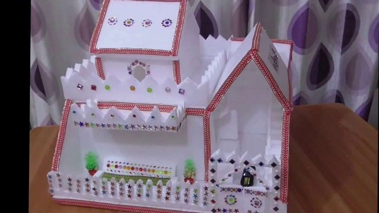 Diy Thermocol House How To Make House Thermocol Craft For