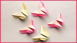 Easy Paper Butterfly Origami   Simple Paper Crafts for Kids and Beginners