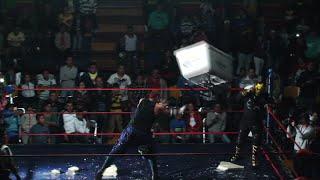 Nicho y Pagano vs L.A. Park e Hijo de L.A. Park, lucha extrema (29 Agosto 2015)