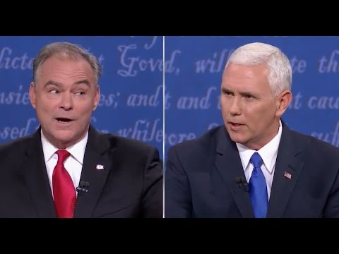 Kaine and Pence talk over each other in Vice-Presidential debate