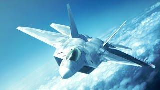 F-22 Raptor gameplay with joystick (Ace Combat: Assault Horizon Enhanced Edition)