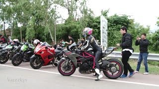 Kawasaki Ninja H2R Lady Biker on Big Bike Tour