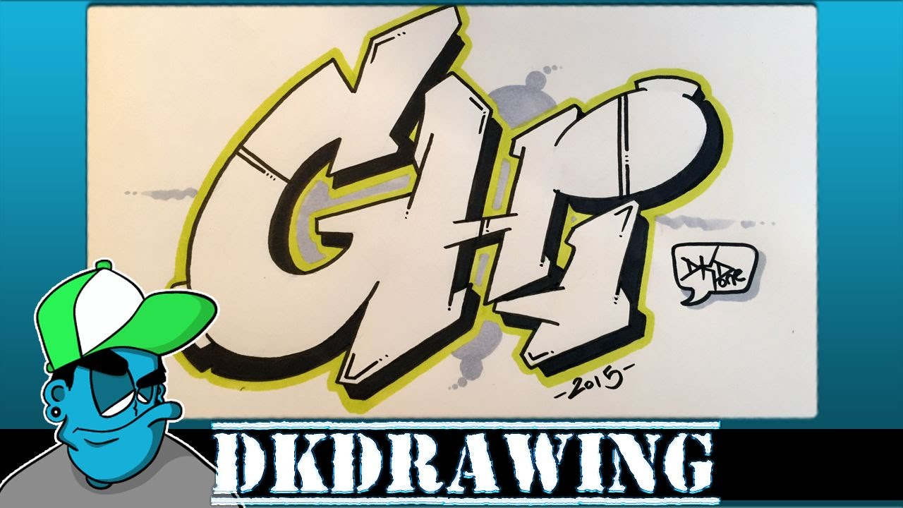 Graffiti tutorial for beginners how to draw graffiti style letters g to i youtube