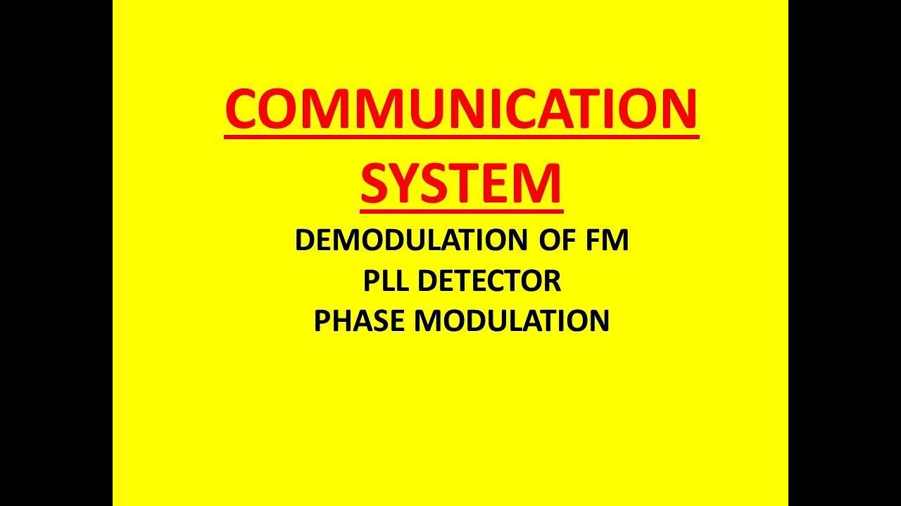 Demodulation Of Fm Pll Detector Phase Modulation Navneet Academy Demodulator Circuit Schematic Diagram