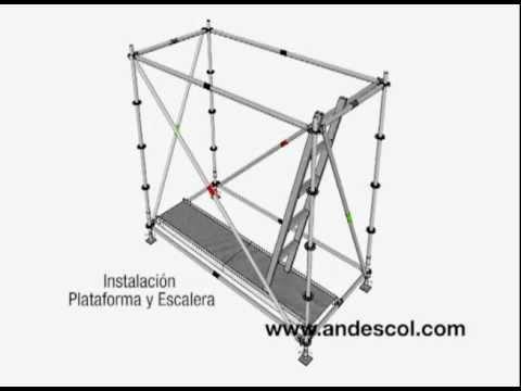 Armado Andamio Multidireccional Paso A Paso Youtube