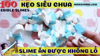 100 Super Chili Candies, Marshmallow Giant! The edible Slime War with 25$