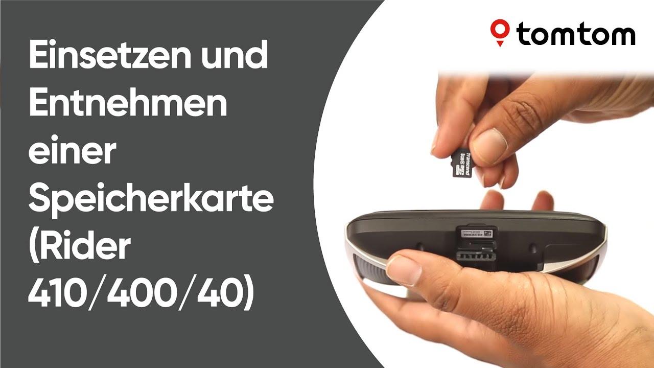 Tomtom Sd Karte Installieren.Einsetzen Und Entnehmen Einer Speicherkarte Rider 410 400 40
