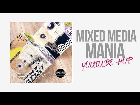 Mixed Media Mania Hop ~ Accordion Fold Out Booklet
