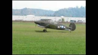 Flight testing Loehle P-40 ferry from cougar to chehalis and home with michelle oct 18, 2010