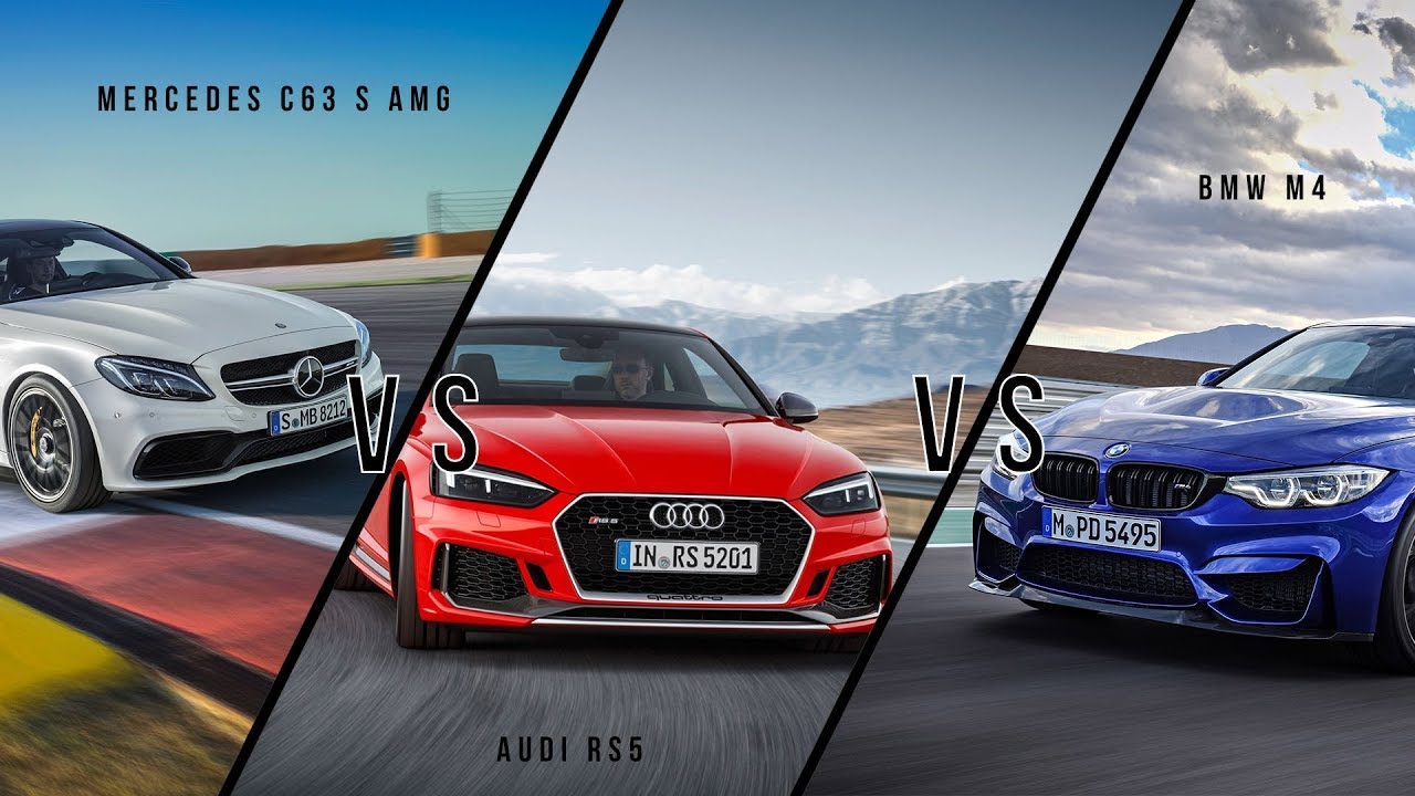 Mercedes C63 S Amg Vs Bmw M4 Vs Audi Rs5 Sound Comparison Youtube