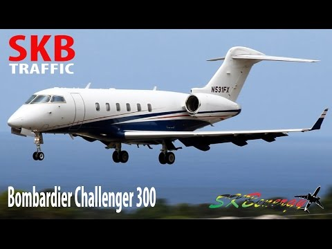 Bombardier Challenger 300 in action (V.I.P Treatment) @ St. Kitts R.L.B Int'l Airport