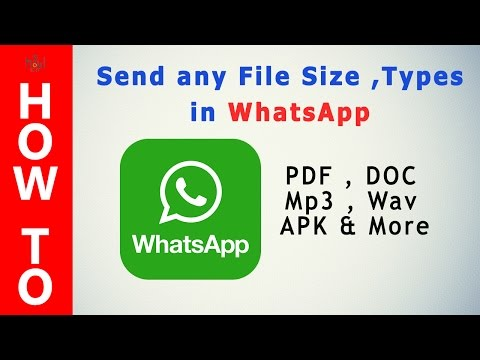 How To Send Any File Format In Whatsapp (2016) ? Easy 100% Working