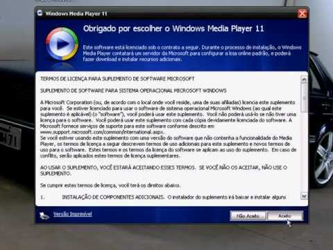 Como Instalar Windows Media Player 11 em Windows XP Pirata