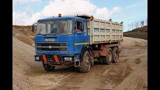 Il fascino delle cave nel viterbese vecchi camion FIAT che sgobbano per la pagnotta