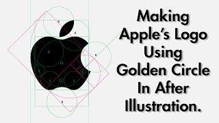 Making Apple's Logo Using Golden Circles | SpeedArt #1 | By MindWaah |