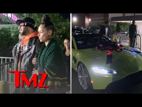 Alicia Keys Surprises Husband Swizz Beatz with Aston Martin for 40th Birthday | TMZ