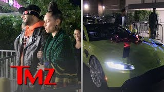 Alicia Keys Surprises Husband Swizz Beatz with Aston Martin for 40th Birthday | TMZ