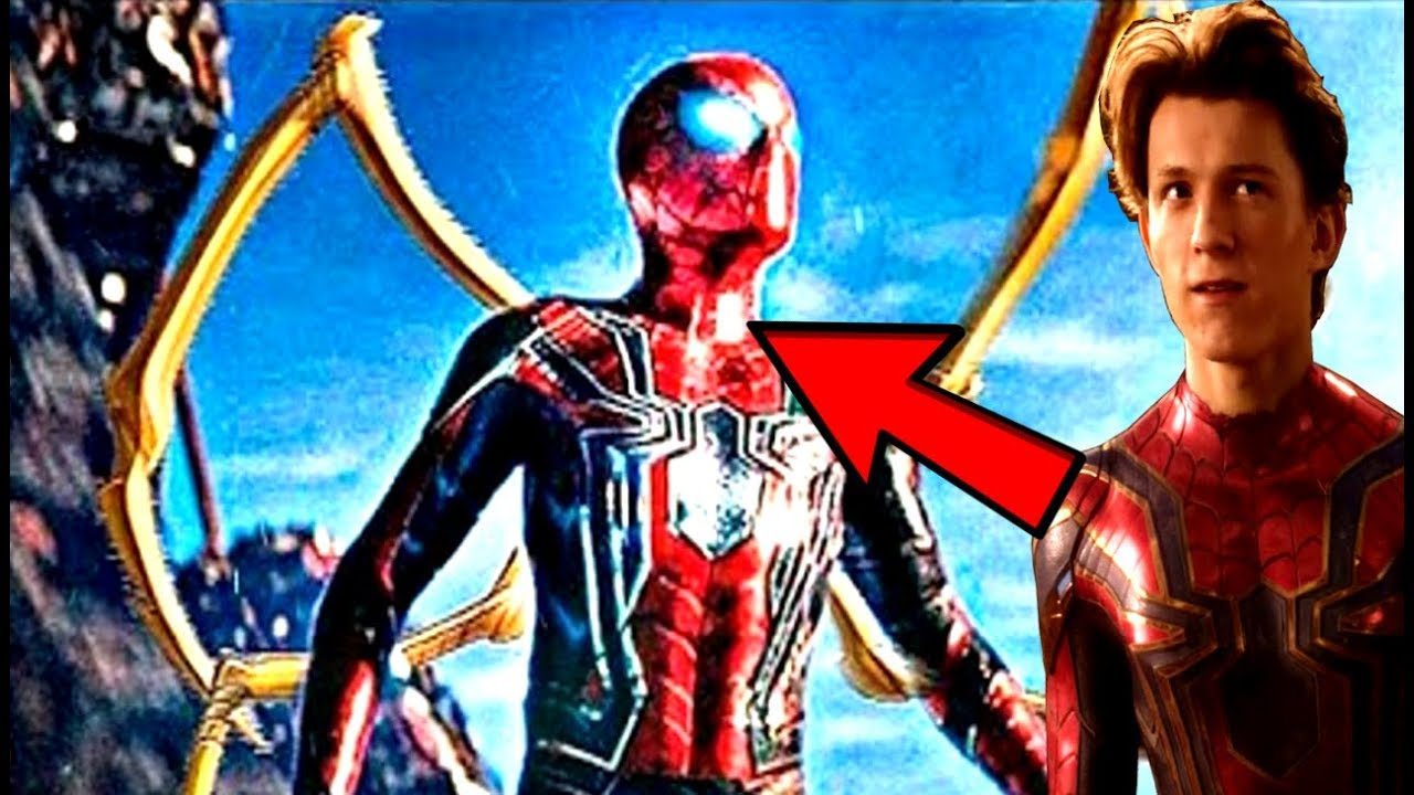 avengers infinity war new look at the iron spider-man!? will