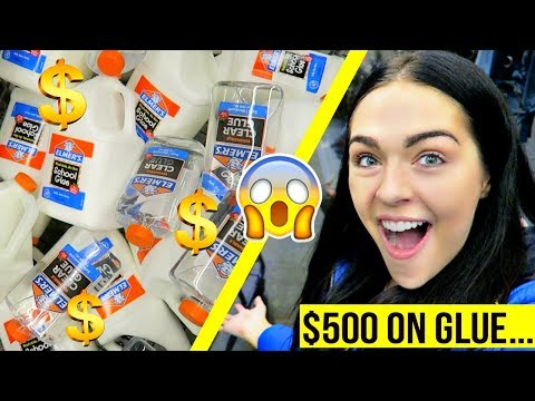 SHOPPING FOR SLIME SUPPLIES FOR SLIME SHOP! (massive GLUE Haul) 😱😱