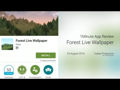 1 Minute App Review - Forest Live Wallpaper
