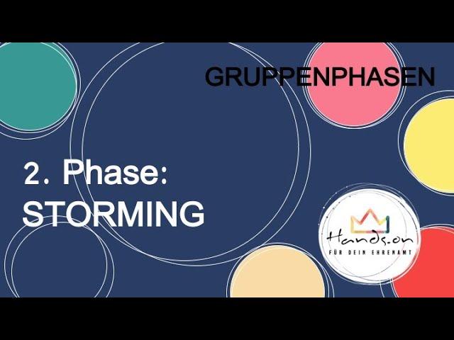 "Gruppenphasen, Teil 3 ""2. Phase: STORMING"""