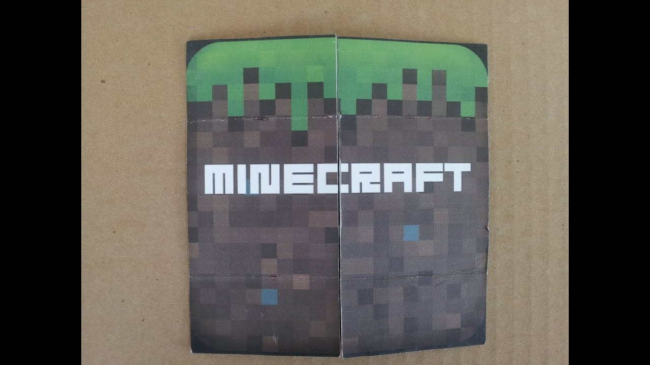 DIY Minecraft Never Ending Flip Card As Birthday And
