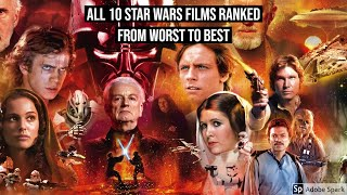 All Star Wars Film Ranked from Worst to Best - Star Wars Reviews #1