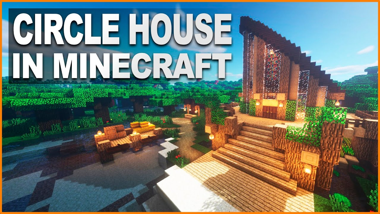 Minecraft: CIRCLE SURVIVAL HOUSE TUTORIAL  How to build in Minecraft