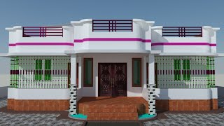 4 bedroom house design (1600 square feet)
