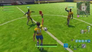 Football Skins Fortnite Gameplay
