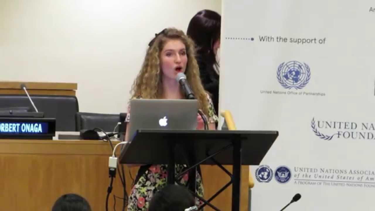 julia myers united nations youth assembly keynote address. Black Bedroom Furniture Sets. Home Design Ideas