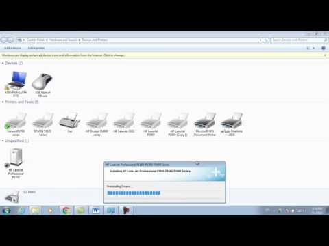 HP Laserjet P1102 การติดตั้ง Driver Windows7 64bit