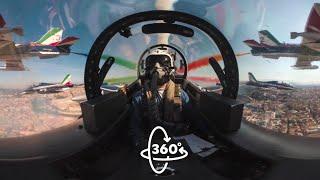 Il Volo A 360° Delle Frecce Tricolori Su Roma