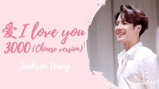Jackson Wang - 爱  I Love You 3000 Chinese Version   Lyrics  Chin|pin|eng