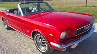 1966 Ford Mustang 4-speed 289 Convertible Classic Pony Car