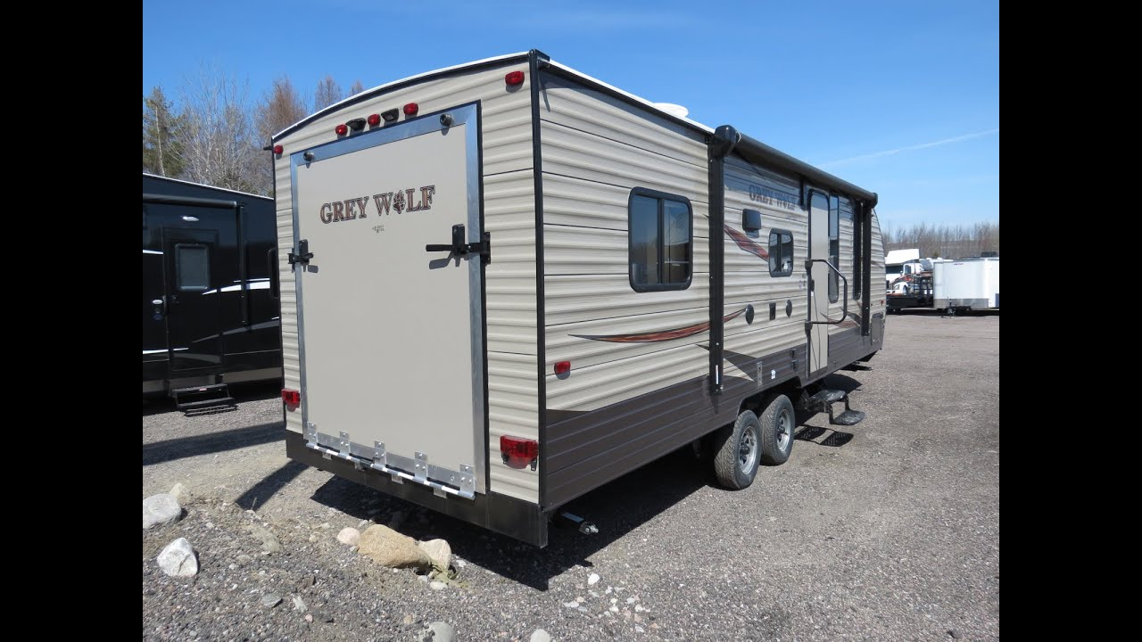 Forest River Grey Wolf 22RR Toy Hauler in Ontario! - YouTube