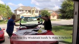 Windshield Install On C3 Corvette and Windshield Frame Repair. By Corvette Hop