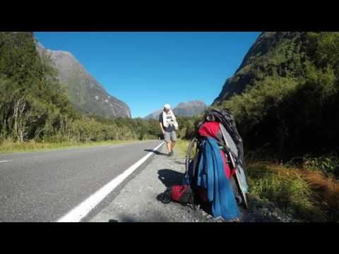Hitchhiking from Milford Sound (Highway), New Zealand, time-lapse
