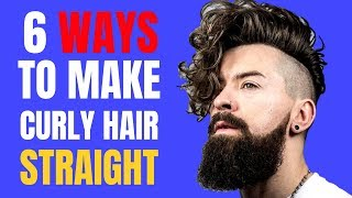 5 Ways To Straighten Curly Hair (Natural and No Heat Too)