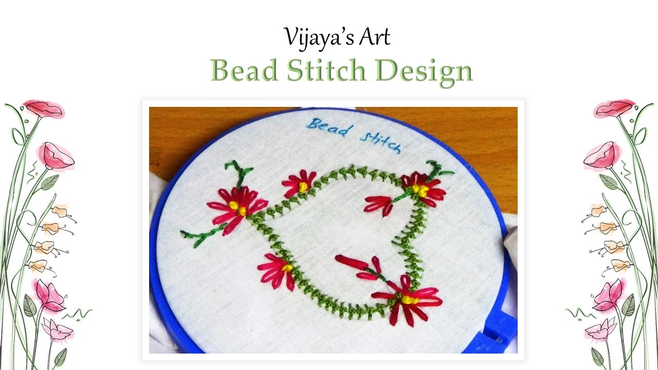 Embroidery Work Designs  Bead Stitch Design  YouTube