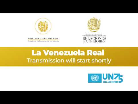 #UNGA Alocución del Presidente (E) Juan Guaidó para la 75° Asamblea General de la ONU