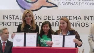 Instalación del Sistema de Protección Integral de niños y adolescentes en Sonora