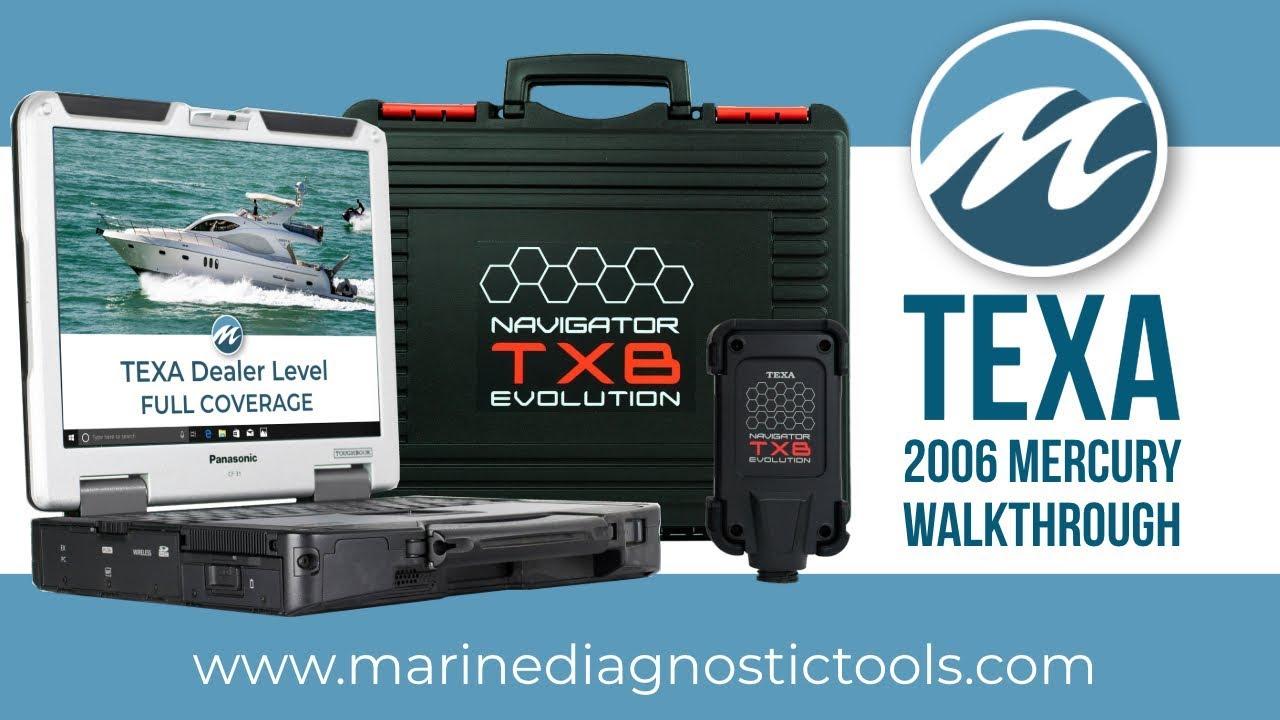 TEXA Marine Walkthrough on 2006 Mercury 225HP Outboard