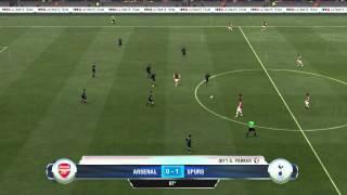 FIFA 13 gameplay Arsenal vs Tottenham Hotspur
