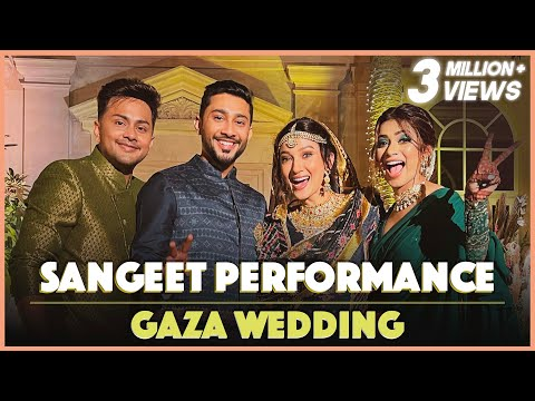 Sangeet Performance At Gaza Wedding | Awez Darbar Choreography